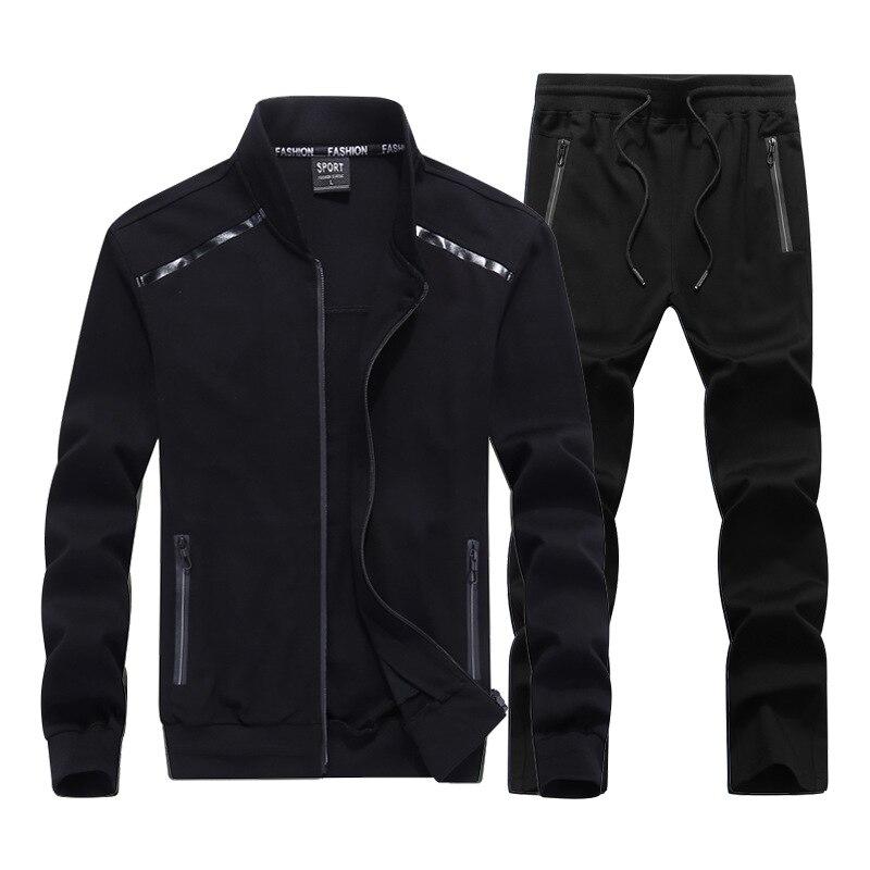 Haute Qualité Hommes Sport Costumes De Mode Hommes de Sport Costume Deux pièces Veste + pantalon 2 pièce Survêtement Hommes grande Taille 7XL 8XL 9XL