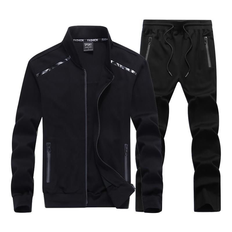 High Quality Men Sports Suits Fashion Men's Sportswear Suit Two-piece Jacket+pants 2 Piece Tracksuit Men Big Size 7XL 8XL 9XL