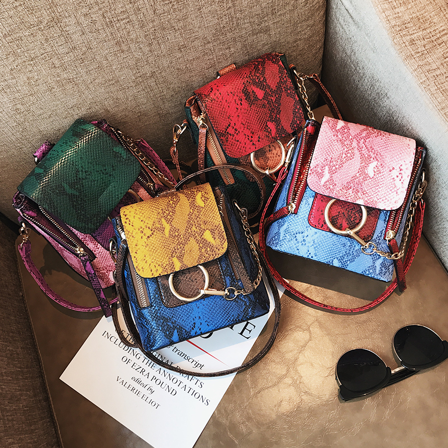 2018 Luxury Messenger Bags Women Vintage Chain Pu Leather Crossbody Bag Female Brand Designer Panelled Shoulder Bag Ladies 2017 fashion all match retro split leather women bag top grade small shoulder bags multilayer mini chain women messenger bags