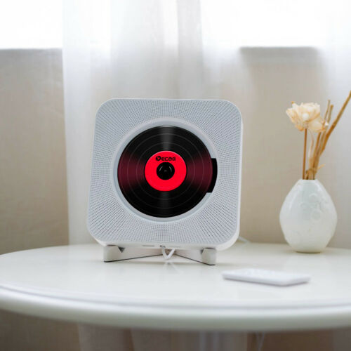Montado Na parede CD Player Som Surround MP3 Disk Rádio FM Bluetooth USB Portátil Falante Estéreo Leitor de Música de Controle Remoto Para Casa