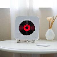 مشغل CD مثبت على الحائط, مشغل موسيقى محيطي راديو FM بلوتوث USB قرص MP3 محمول مشغل موسيقى عن بعد سماعة ستيريو المنزل