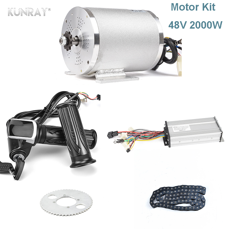 48V <font><b>2000W</b></font> Brushless DC <font><b>Motor</b></font>, Electric <font><b>Motor</b></font> For Electric Vehicle, With Brushless Controller And LCD Display Electric <font><b>Bike</b></font> Parts image