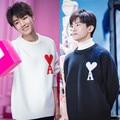 Frühling Herbst Männer Mode Korea Stil Sterne Gleiche Tuch Herz EIN Brief Drucken Oansatz Gestrickte Pullover Männlichen Liebhaber Casual Pullover