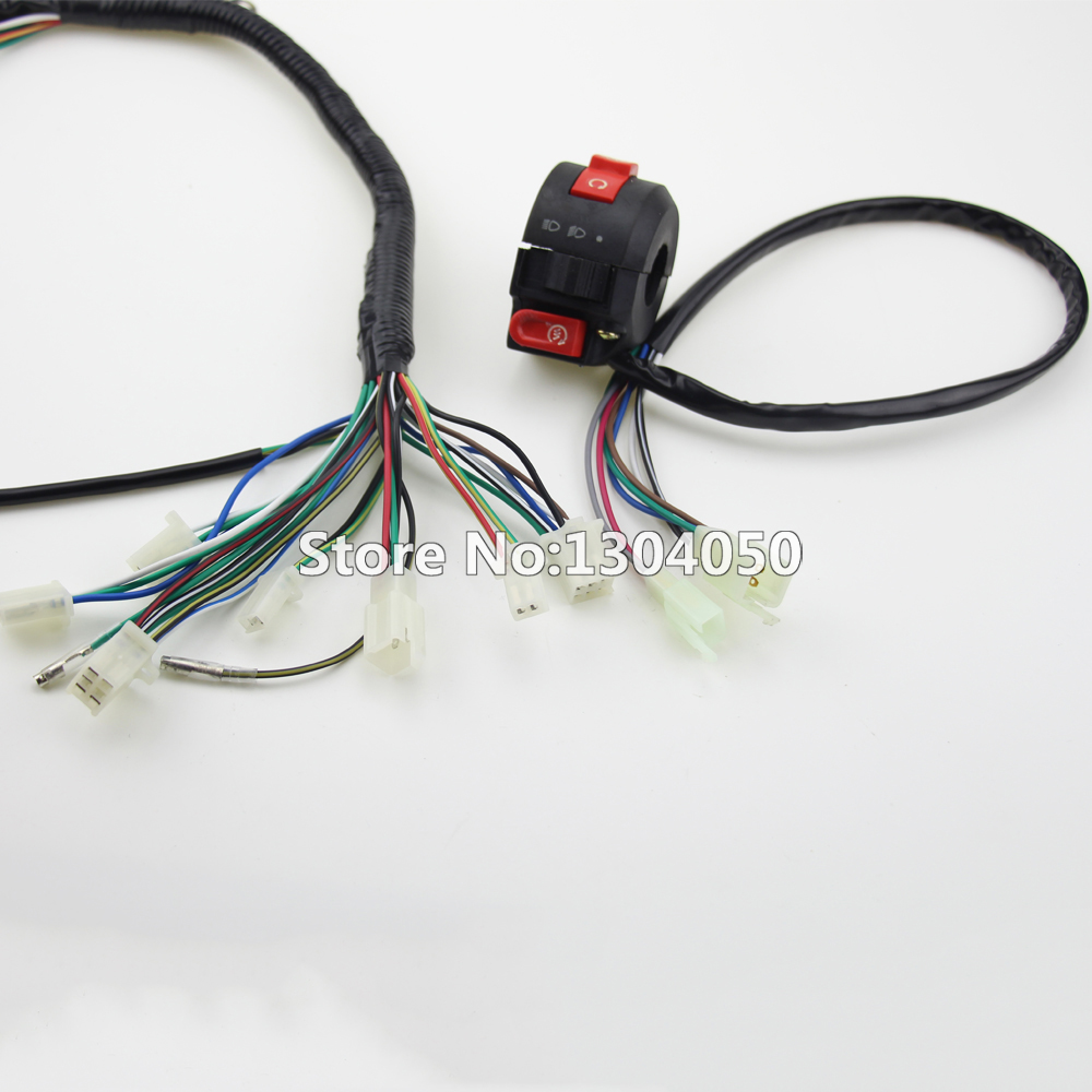Full Electrics Wiring Harness Cdi Ignition Coil Spark Plug 50cc 70cc 125cc Atv 110cc Quad Bike Buggy Gokart New In Motorbike Ingition From Automobiles