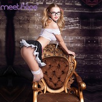 Powder porn lace student uniforms cosplay role playing pure girl costume stage nightclub show split skirt stockings suit