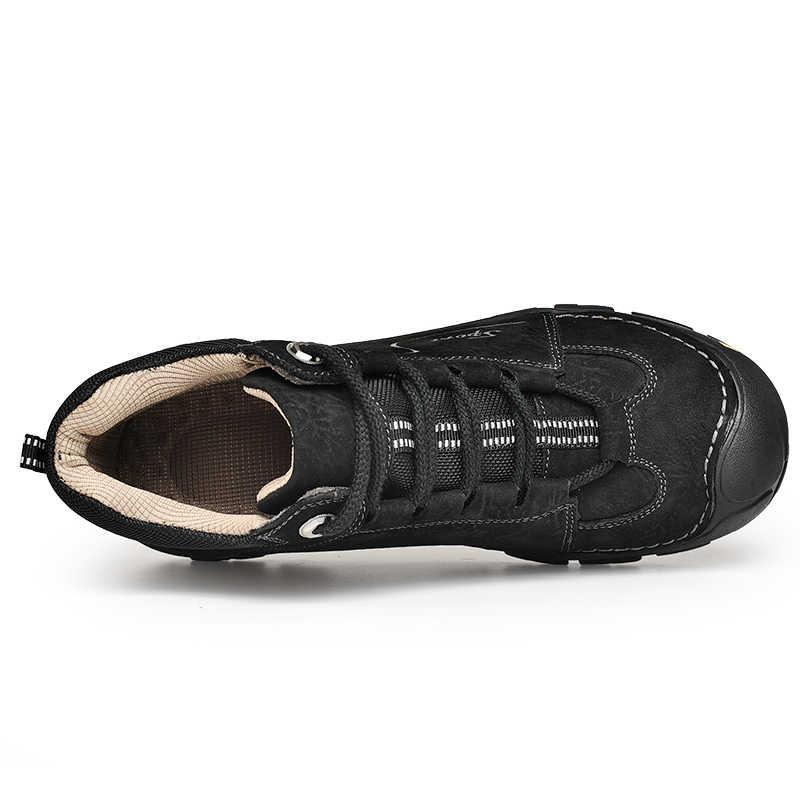 Vancat/брендовые зимние ботинки из натуральной кожи, Мужская обувь для взрослых, зимние короткие плюшевые мужские Ботинки, Ботильоны, модная удобная Рабочая обувь