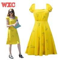 La La Land Movie Yellow Mia Dress Cosplay Elegant Vintage 1950s Party Dresses Short Sleeve Summer Women Dress Vestidos WXC