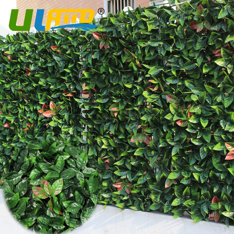 ULAND 10x10 Artificial Boxwood Hedges Panels Plastic Decorative Plant Wall Factory Grass Sythenic Ivy Fencing Garden Ornaments