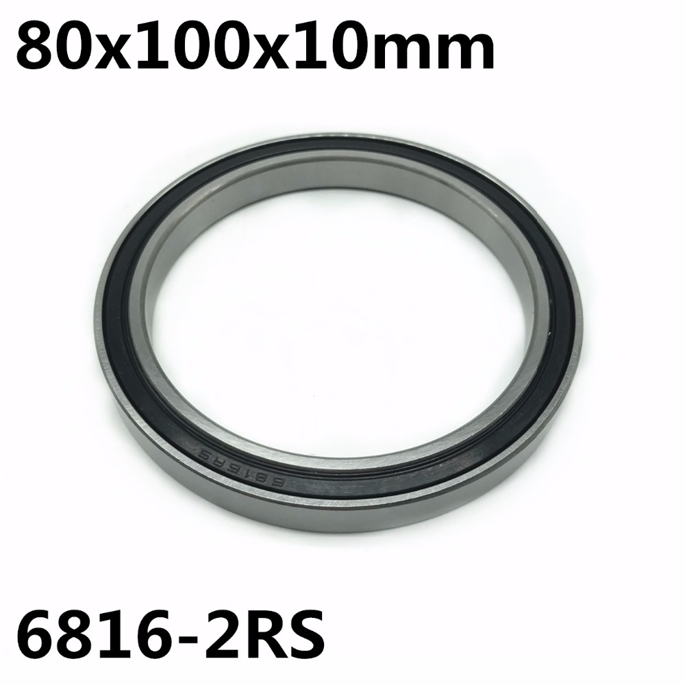1pcs 6816-2RS 80x100x10 Mm The High Quality Of Ultra-thin Deep Groove Ball Bearings 6816RS 6816