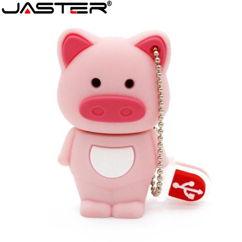 JASTER  The New Piggy USB Flash Drive USB 2.0 Pen Drive Minions Memory Stick Pendrive 4GB 8GB 16GB 32GB 64GB Gift