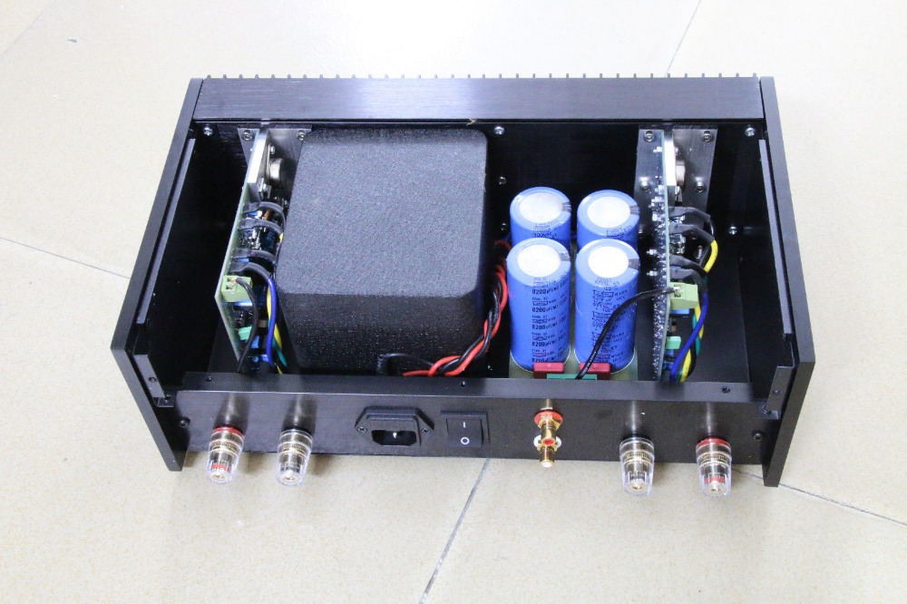 Finished Classic QUAD405 Clone Power amplifier Audio amp 100W+100W ONSEMI MJ15024 wholesale new 2pcs nap 140 classic naim clone audio power amplifier 100w 100w 4ohm 40v diy kit