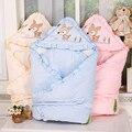 Весна Зима Сгущает Детские одеяло конверт для младенца новорожденного хлопок одеяло детские супер мягкий пеленание обертывания сна мешок 90 х 90 AB065