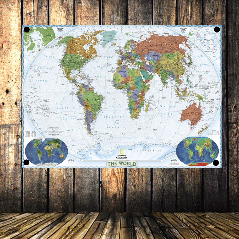 World map autical map\travel Large Vintage Poster Banner Flag Tapestry HD Senior Art Cloth Painting Wall Chart Home Decor
