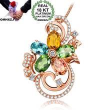 Ожерелье omhxzj из розового золота с фианитом 18 карат