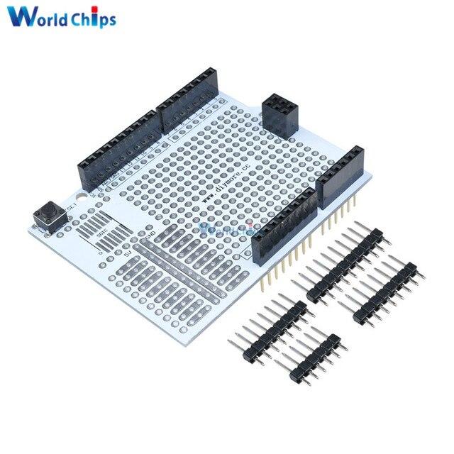 Prototipo de placa de desarrollo de PCB placa de expansión de placa de escudo de Protoshield módulo para Arduino UNO R3 UNO Kit de bricolaje de 2,54mm