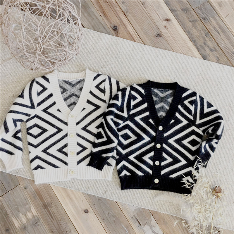 Children's Cardigan Jackets Baby Boys Knit Sweater Cardigans Baby Girls Knitted Cardigan Long Sleeve Rabbit velvet Jacket Kids navy lace up detail knit long cardigan sweater