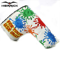 Golf Putter Headcover 2 Color PU Cover Velcro Closure For Blade Golf Putter High Quality Free