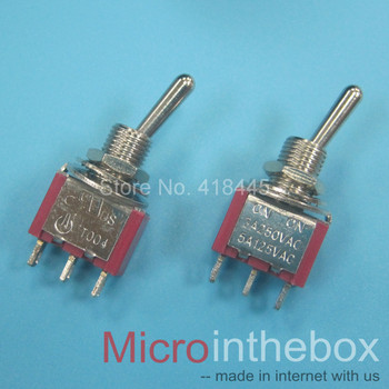 toggle switch on/off 1P2T 1P3T push on 3pin 250V/2A 120V/5A 12V/20A Mini Latching red button