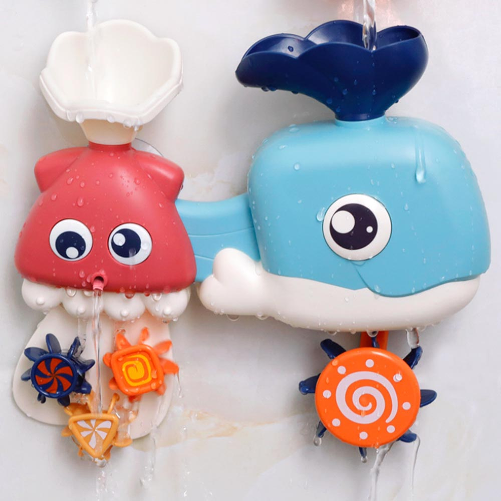 Baby Play Water Toys Ocean Turn Children's Bathroom Whale Shower Toy Baby Play Water Spray Play Parent-child Interaction Toys