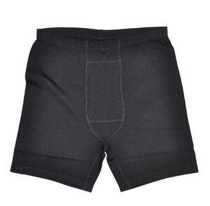 Image 2 - 100% メリノウールメンズの軽量下着男性黒ボクサー Underpant フライクール春暖かい冬のショートパンツで送料無料