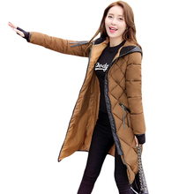 New Style Autumn Winter Women's Clothing Overcoat Korean Version Thick Parka Zip Front Ladies Big Size Fashion Long Parkas XH434