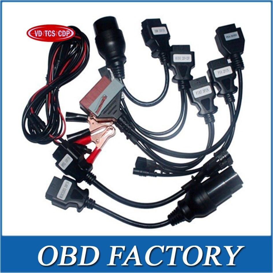 Prix pour 8 pcs par set OBD2 Câbles Pour VD TCS CDP Pro Voitures voiture Câble MVD et multidiag wow cdp snooper