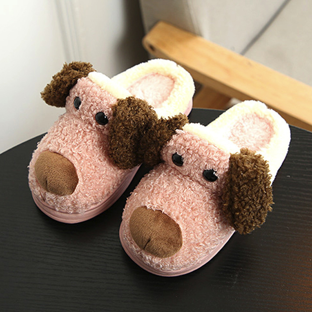 Cute Slippers Kids Toddler Baby Household Shoes Plush Soft