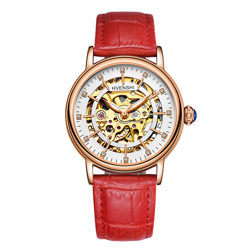 Women Watches Luxury Brand Fully Hollowed Out Luminous Automatic Mechanical Watch Fashion Female Business Relogio Feminino