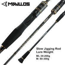 цена на Mavllos 1.95m ML/M Tip Slow Jigging Rod Lure Weight 30-200g/80-300g  2 Section Ultralight Saltwater Fishing Casting Spinning Rod