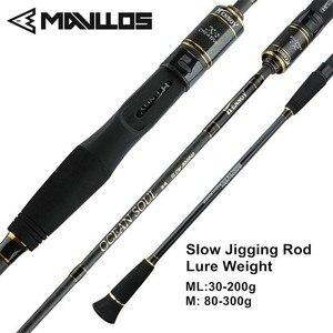 Mavllos 1.95m ML/M Tip Slow Jigging Rod Lure Weight 30 200g/80 300g  2 Section Ultralight Saltwater Fishing Casting Spinning Rod|spinning rod|2 section|fishing rod -