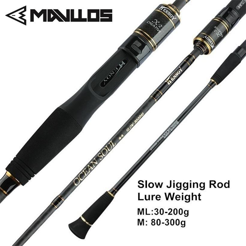 mavllos 1 95 m ml m lento jigging vara de pesca 2 secao l w 25