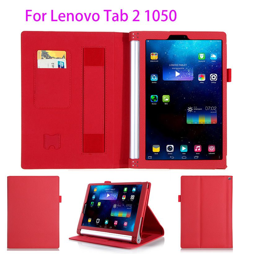 Luxury Leather Flip Case For Lenovo Yoga Tablet 2 1050 1050F 1051F 1050L 10.1 Inch Case Cover Protective With Hand Holder Shell