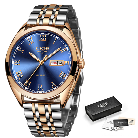 2019 New LIGE Women Watches Casual Sport Quartz Watch Ladies Top Brand Luxury Stainless Steel Waterproof Watch Relogio Feminino Multan