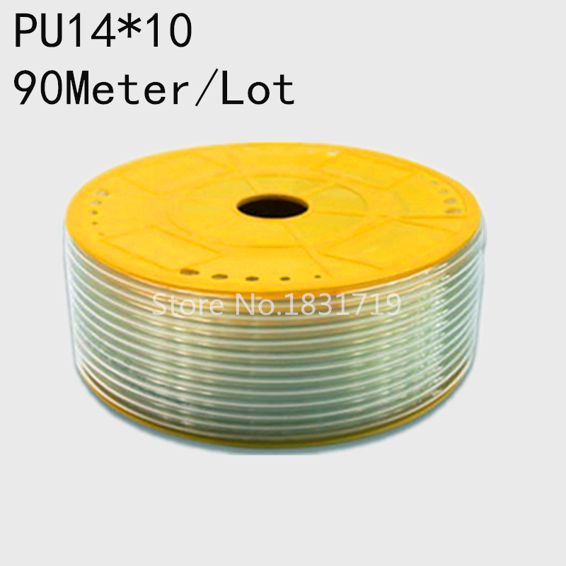 90M/Lot PU14x10 14mm OD 10mm ID Pneumatic PU Tube Hose PU14*10 цена