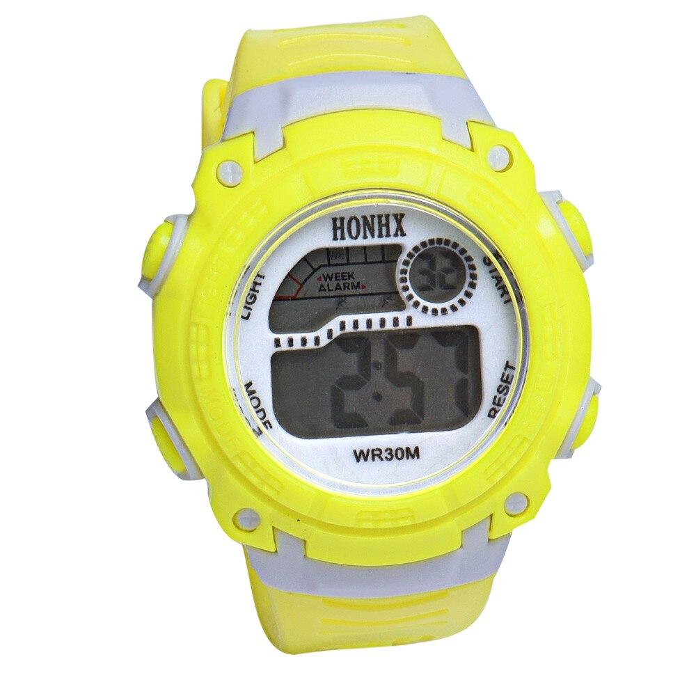2017 Children Girls Digital LED Quartz Alarm Date Sports Wrist Watch 2 Y794*