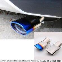 Hot sale For Honda CRV CR-V 2012 2013 2014 car cover muffler exterior end pipe dedicate stainless steel exhaust tip tail 1pcs