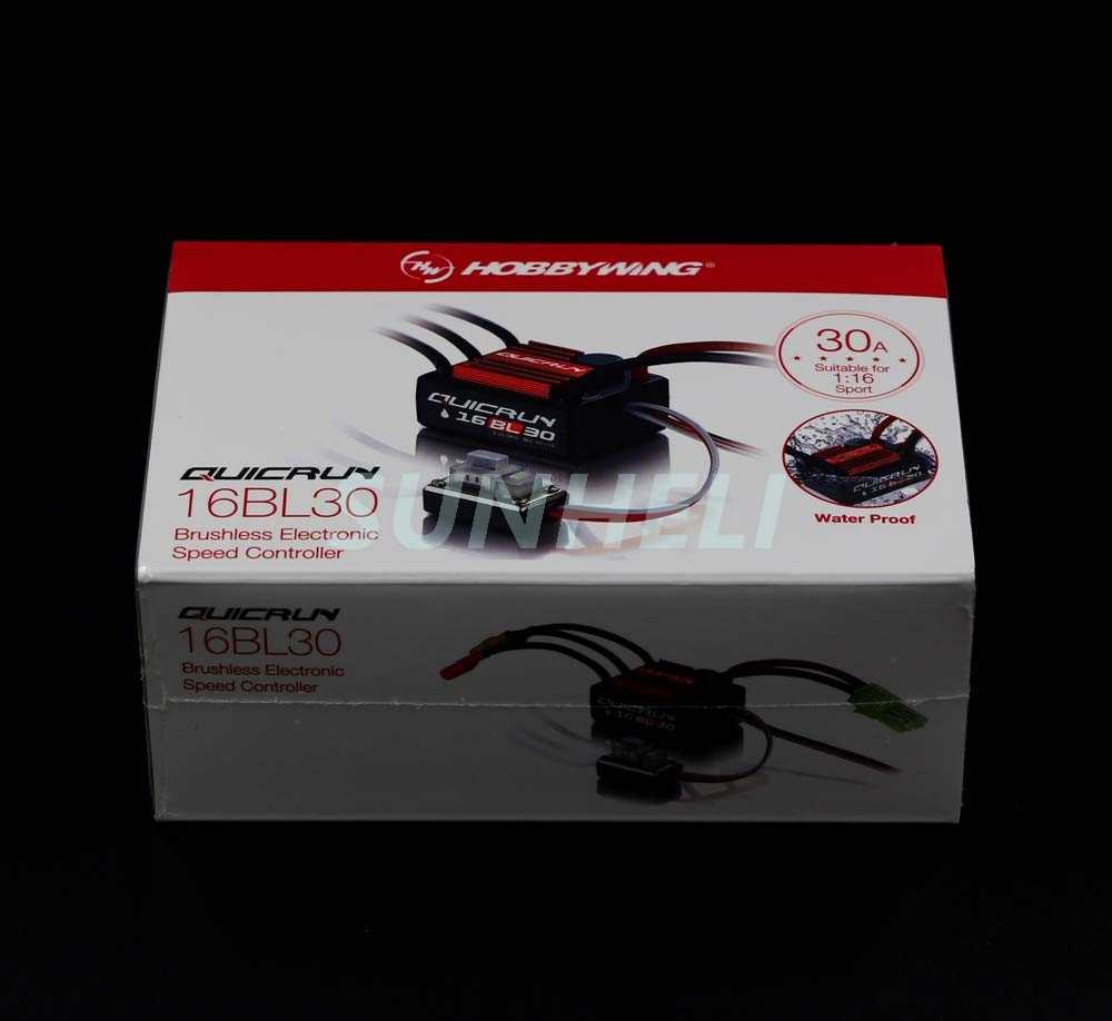 Hobbywing QuicRun 16BL30 30A a sin escobillas ESC para 1/16 en carretera/Off-road/Buggy/monstruo RC coche