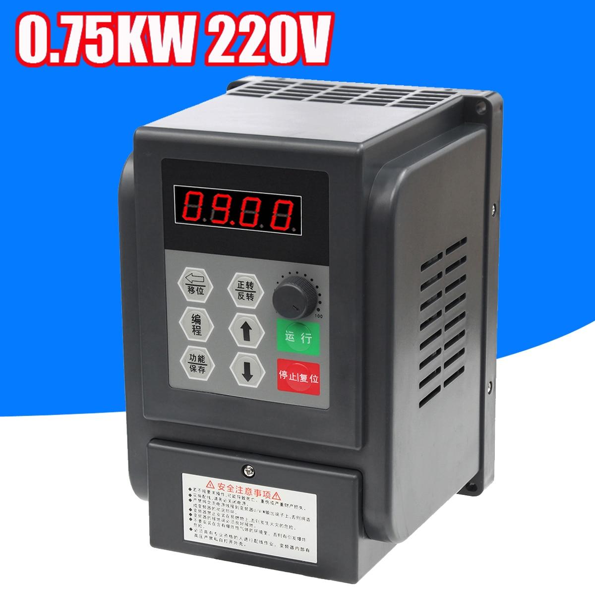 0.75kw 220 В переменной частоты Контроллер одной фразой преобразователь частоты
