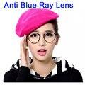 Anti Blue Ray Óculos de Computador Óculos de Armação de Óculos Da Moda Das Mulheres Dos Homens Transparentes Rodada Oculos de grau Femininos Lente Clara