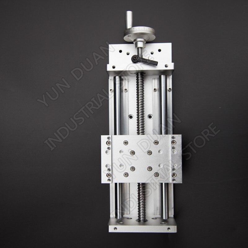 600MM Stroke Heavy Load Manual Precision Milling Sliding Table Slide Linear Stage SFU1605 C7 Ball Screw SBR Guide Platform