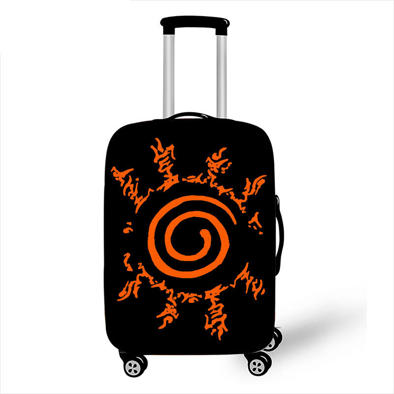 18-32 Inch Anime Uzumaki Naruto Trolly Suitcase Protective Cover Elastic Luggage Cover Bagage Case Dust-proof Travel Accessories
