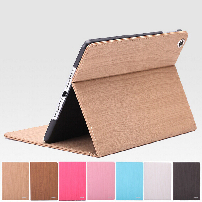 For Apple Ipad air 2 case capa wood pattern pu leather and pc material flip smart cover surface for Apple Ipad 6  Free Shipping for lg google nexus 5 d820 d821 lcd touch screen digitizer with frame assembly black