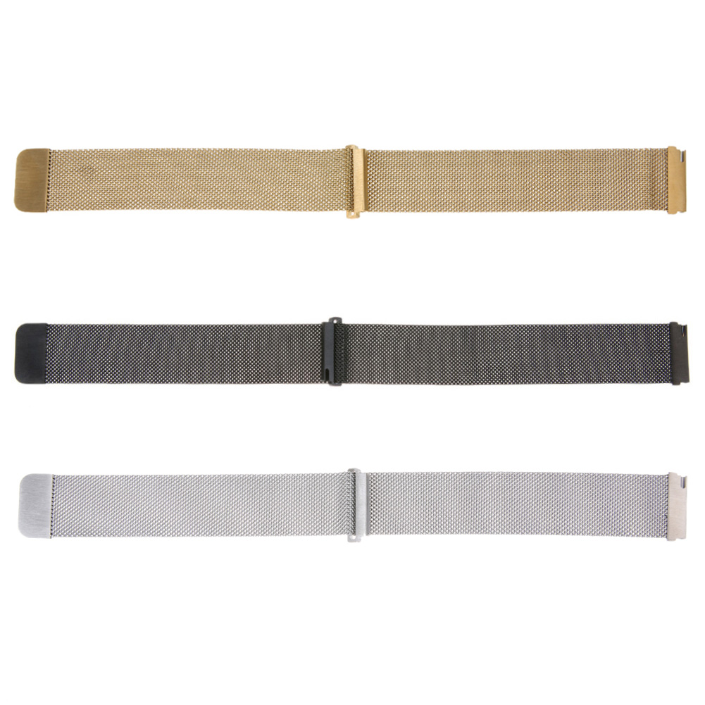 Black/Gold/Silver Stainless Steel Smart Watch Metal Strap Magnetic Milanes WatchBand For Samsung S3 381 382 380 for LG W100 110