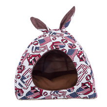 2019 Pet Cat Dog мягкое теплое гнездо лежак для питомца пещера домашний спальный мешок коврик палатка s m 4 цвета Домашние животные зимние теплые уютные кровати