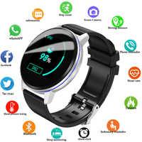 2019 nuevo LIGE negro Casual moda inteligente reloj pulsera hombre Fitness Tracker Top marca de lujo impermeable reloj inteligente pulsera