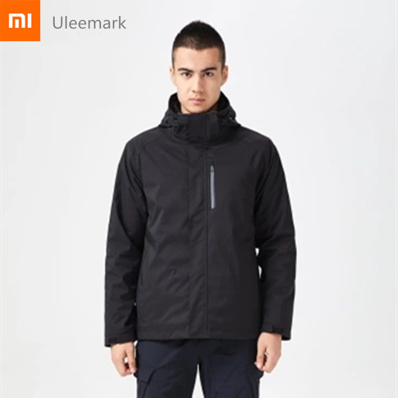 Xiaomi chain brand Uleemark waterproof men jacket Winter Autumn outdoor sport windproof wearproof Hiking Camping Male Jacket bag