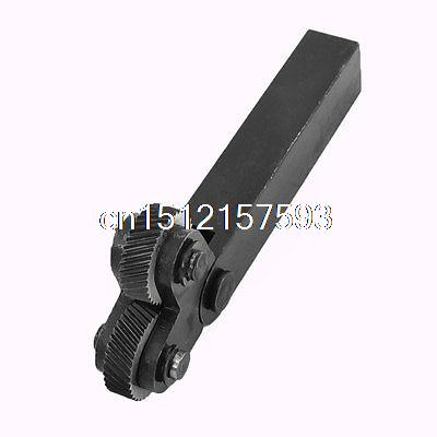 Dual 26mm Diameter Wheels 2.0mm Pitch Linear Knurl Knurling Tool