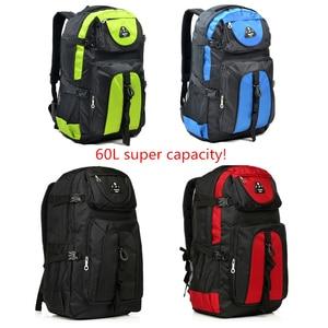 Image 3 - Chuwanglin nouveaux magasins mode chaude hommes sac à dos unisexe en nylon sac de voyage étanche 60L grande capacité sacs pour ordinateur portable S70