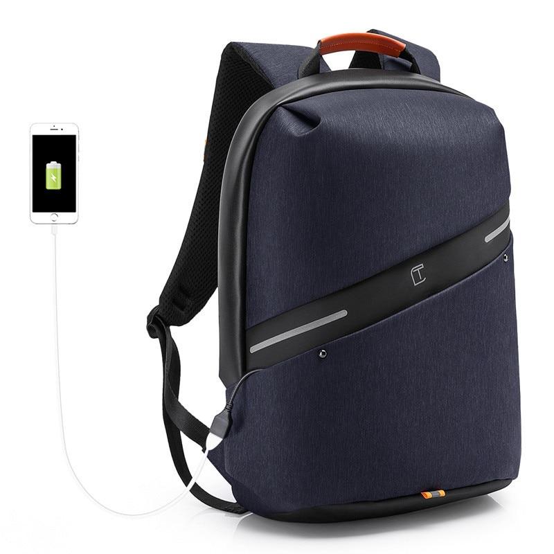 USB laptop nylon luxury backpack Men's 2018 Leisure travel waterproof shoulder bag business man computer bag backpack