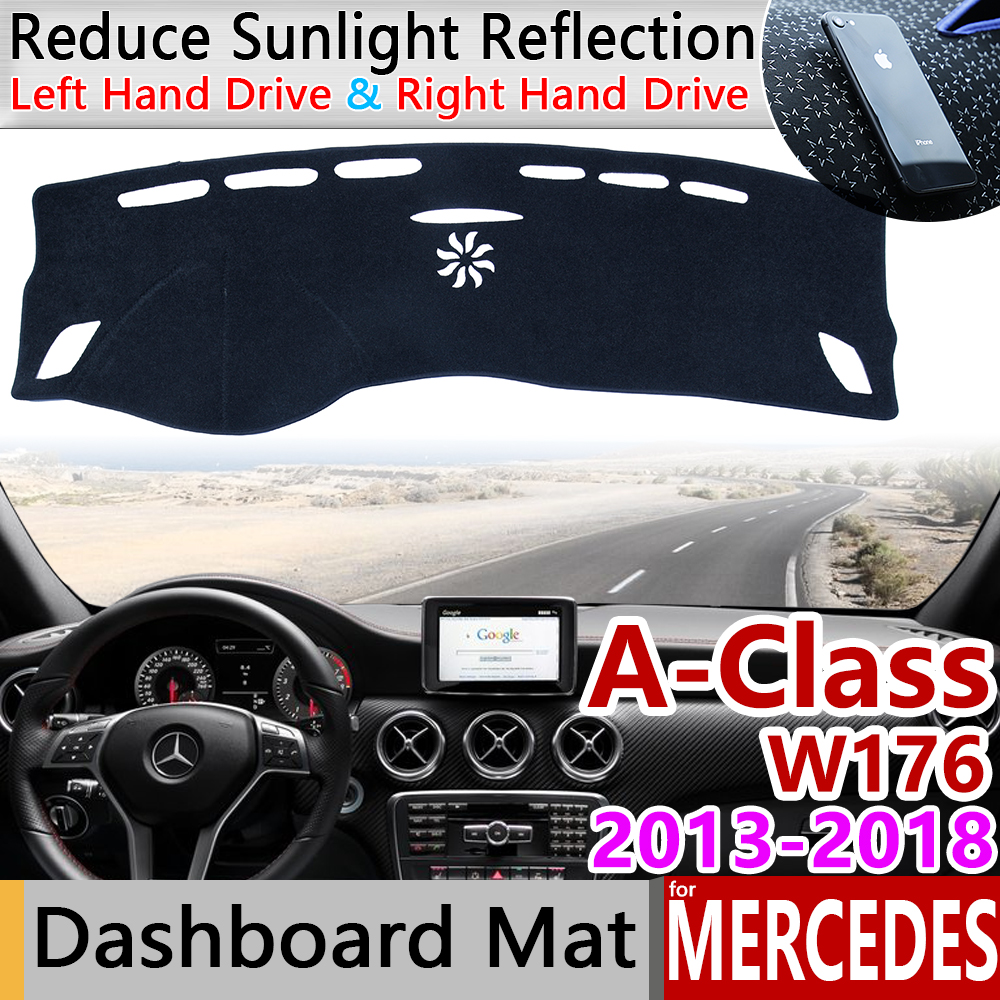 for <font><b>Mercedes</b></font> Benz A-Class W176 Anti-Slip Mat Dashboard Cover Pad Sunshade Dashmat Carpet Accessories A-Klasse A160 <font><b>A180</b></font> A200 A45 image